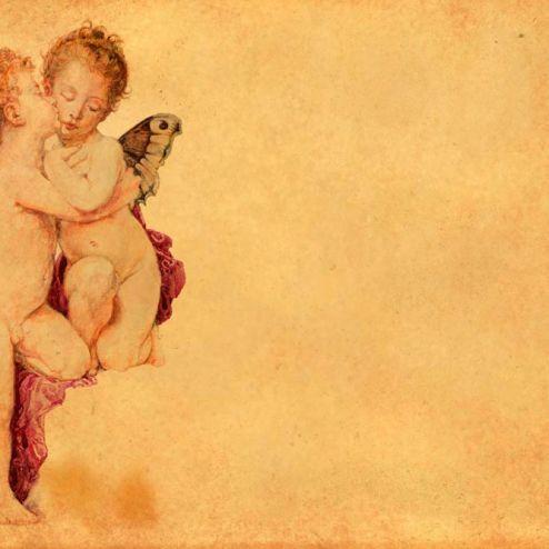 Влюбленные купидоны Фотообои Любовь ангелов