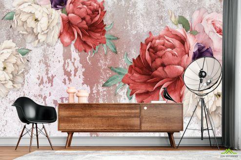 Цветы Фотообои Винтажные пионы