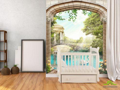 Фотообои Вид из окна по выгодной цене Фотообои Вид из арки на Венецию