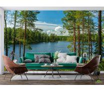Фотообои Озеро в лесу