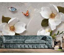 Фотообои 3 д цветы