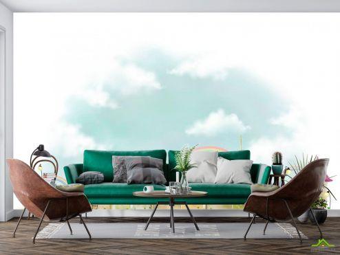 Иллюстрации Фотообои Город и облака