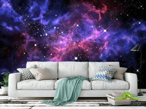 обои Космос Фотообои сияние звёзд в космосе