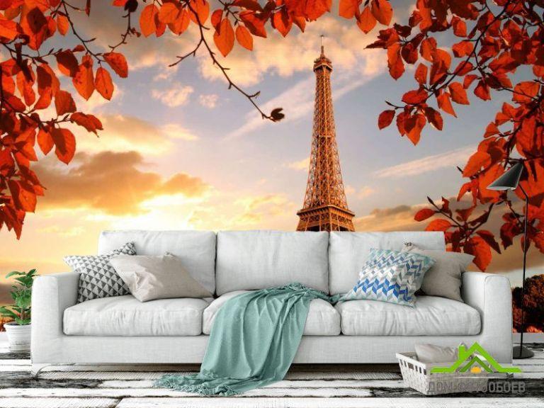 Фотообои Эйфилева башня осенью