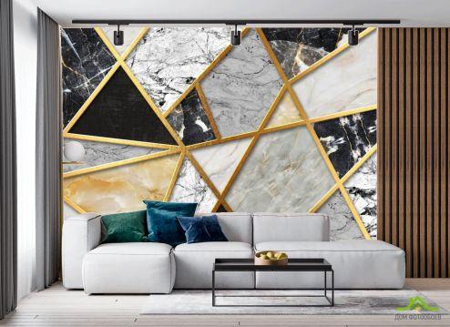 в гостиную Фотообои Мозаика из мрамора