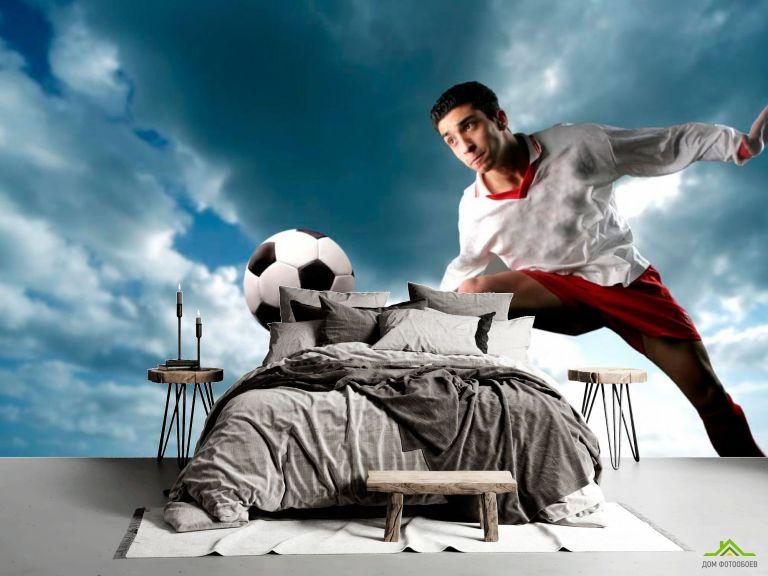 Фотообои Футболист с мячом