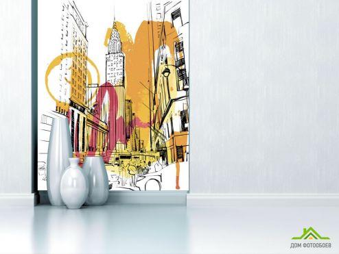 Иллюстрации Фотообои Мегаполис рисованный