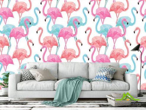 с Фламинго Фотообои Фламинго