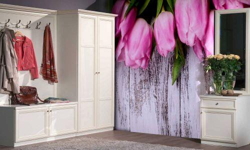 Фотообои в интерьере прихожей с фото - Фотообои Тюльпаны