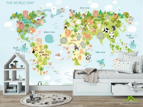 в детскую Фотообои Детская развивающая карта