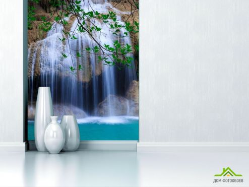 обои Природа Фотообои белый водопад