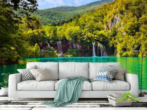 Водопад Фотообои Вода и горы купить