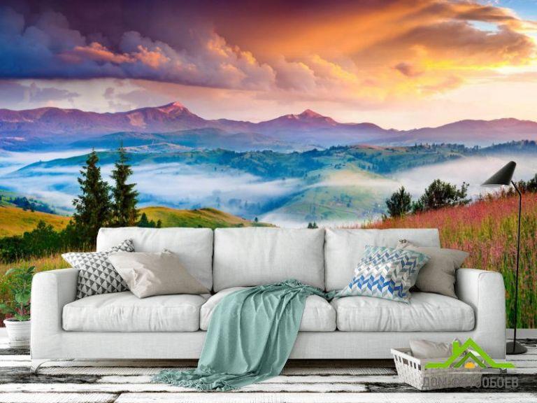 Фотообои Красочные горы