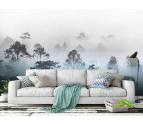 Фотообои Туманные деревья