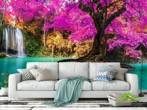 Розовые деревья Фотообои Дерево