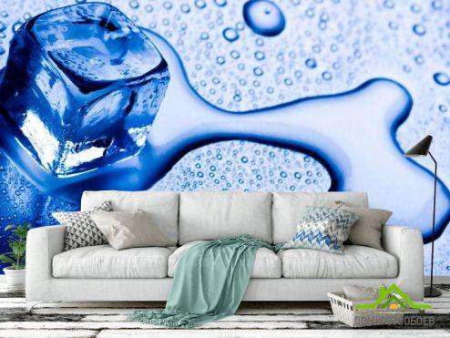 Синие обои Фотообои Лёд