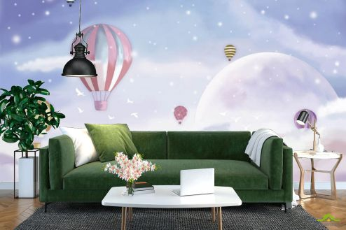 Фотообои разные по выгодной цене Фотообои воздушные шары