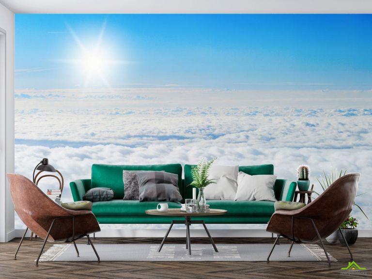 Фотообои солнце над облаками