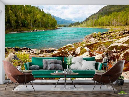 Природа Фотообои Странный берег, горы