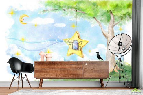 Иллюстрации Фотообои Сказачное дерево