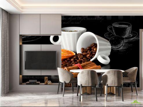 Фотообои на кухню по выгодной цене Фотообои в кухню Кофе