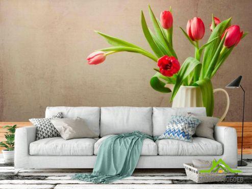 Коричневые  Фотообои Тюльпаны