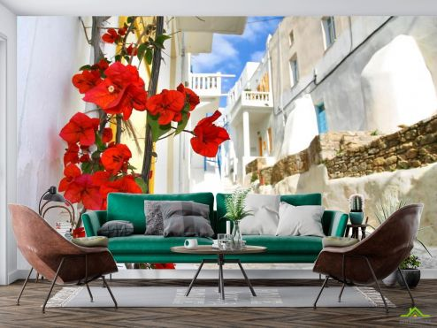 Старый город Фотообои Улочка в Греции купить
