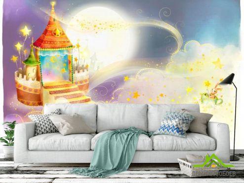 Иллюстрации Фотообои Замок в облаках
