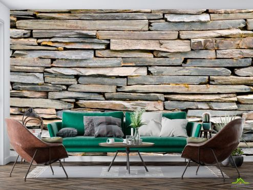 Деревянная стена Фотообои Стена из деревянных блоков