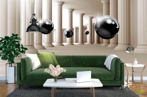 Расширяющие пространство Фотообои 3д шары и колонны