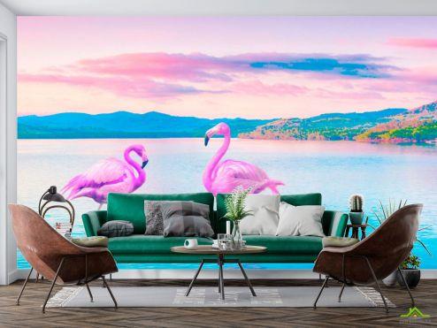 Фотообои Фламинго купить