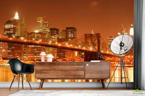 Фотообои Архитектура по выгодной цене Фотообои Зачарованный  Бруклинский мост