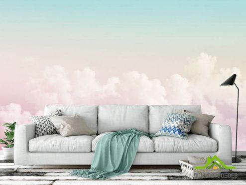 обои Природа Фотообои Розовое небо
