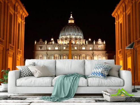 обои Архитектура Фотообои Ночной Ватикан