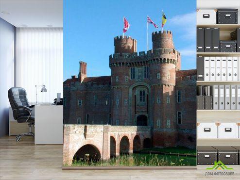 Коричневые обои Фотообои Замок в Америке
