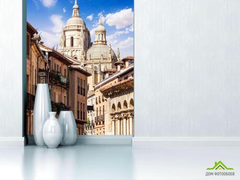 обои Старый город Фотообои Храм В Испании