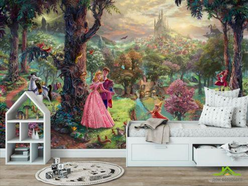 обои в детскую Фотообои Волшебный лес