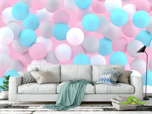 3Д обои Фотообои Разноцветные шары