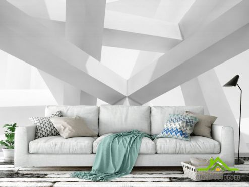 Расширяющие пространство Фотообои Белые квадратные столбы купить