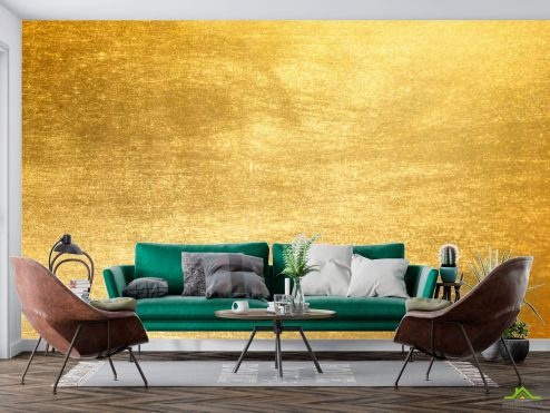 лофт Фотообои Золотая стенка