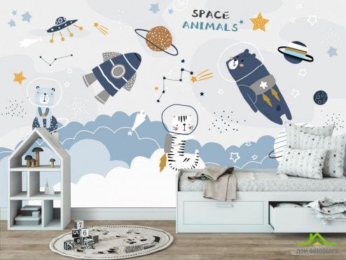 в детскую Фотообои Принт с космосом купить