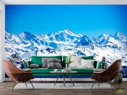 Природа Фотообои Горы покрытые снегом
