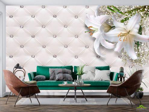 3Д  Фотообои Лилия на стене