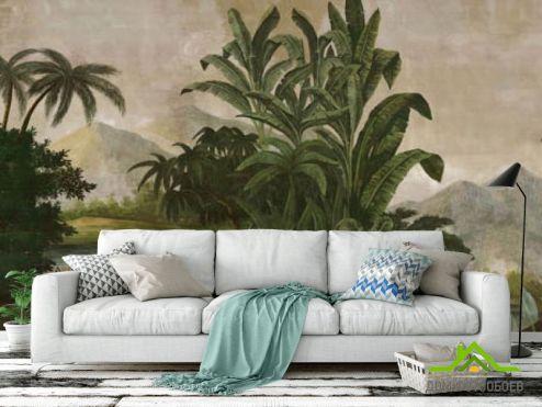 тропические листья Фотообои Тропические растения