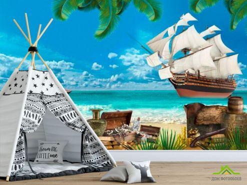 пираты Фотообои Остров пиратов