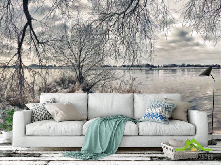 Фотообои Черно белое побережье