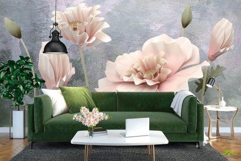 Фотообои Цветы по выгодной цене Фотообои 3d объёмные цветы