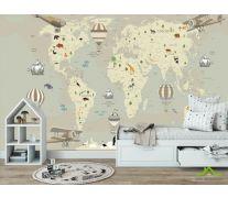 Фотообои Карта в детскую