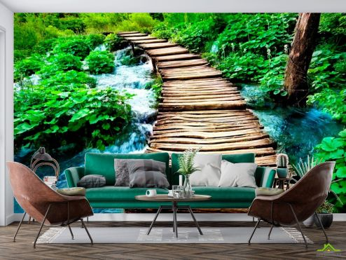 Природа Фотообои Вода и мост