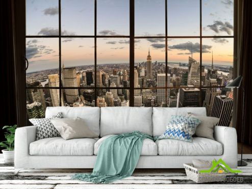 обои Вид из окна Фотообои Высотки Нью Йорка